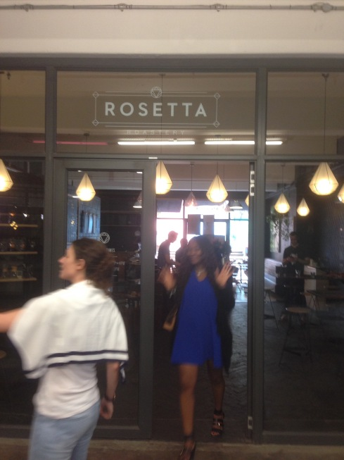 Pretty woman at Rosetta