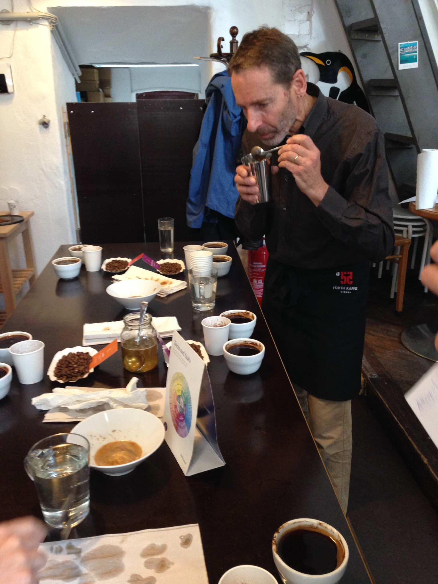 A Cupping Session in Vienna Furth Kaffee